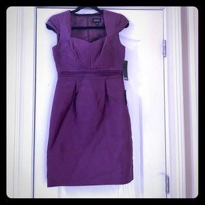 NWT Adriana Papell Dress, plum, Sz 6
